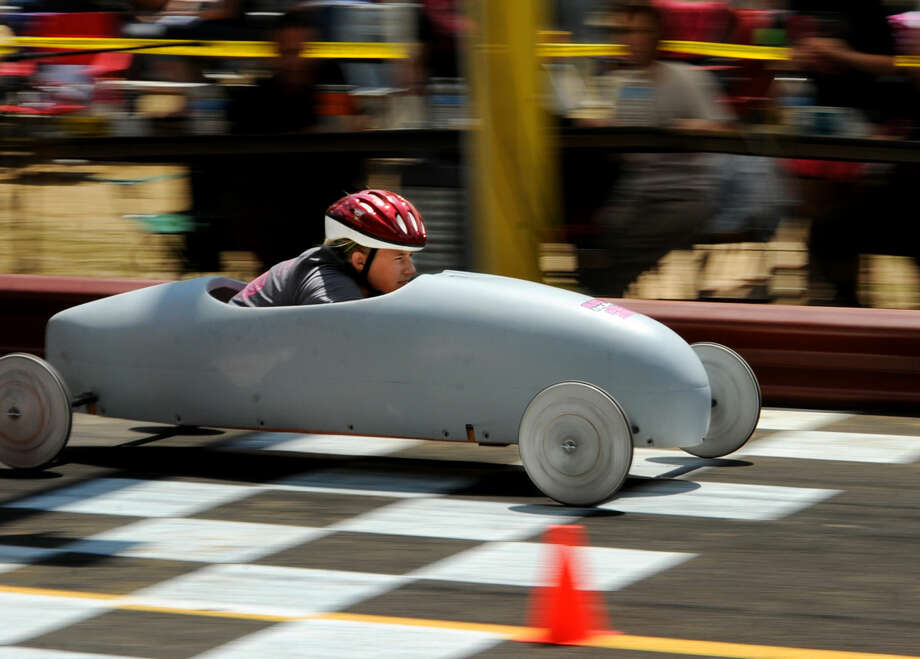 In this file photo, Savannah Bell moved up to the super stock division and won her heat race at the Owensboro Lions Club Soap Box Derby, Saturday, June 2, 2012, at Ben Hawes Park in Owensboro, Kentucky. LCC will host a soap box derby on March 21.