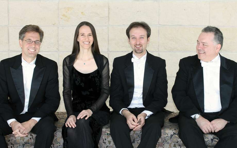 The Harrington String Quartet will return to Laredo Community College to offer its second Gateway City-performance on Wednesday, Feb. 18 at 7:30 p.m. at the Fernando A. Salinas Rotunda in the Visual and Performing Arts Center at the Fort McIntosh Campus. Admission is free to the public. From left, they are Keith Redpath, Rossitza Jekova-Goza, Vesselin Todorov and Emmanuel Lopez.