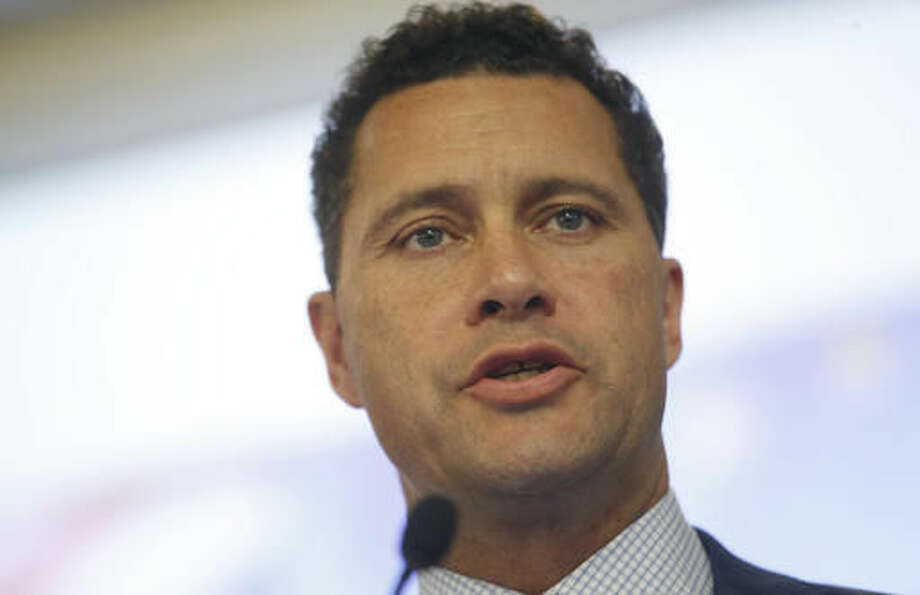 """FILE - In this Wednesday, June 22, 2016 file photo, UK Independence Party's Steven Woolfe, a Member of the European Parliament, speaks at the final press conference before the referendum on Britain's vote to leave or remain in the EU, in London. Britain's right-wing U.K. Independence Party says one of its European Parliament members is in serious condition in a hospital after an 'altercation' with colleagues. Party leader Nigel Farage said Thursday, Oct. 6, 2016 that """"following an altercation that took place at a meeting of UKIP MEPs this morning ... Steven Woolfe subsequently collapsed and was taken to hospital. His condition is serious."""" (AP Photo/Alastair Grant, File)"""