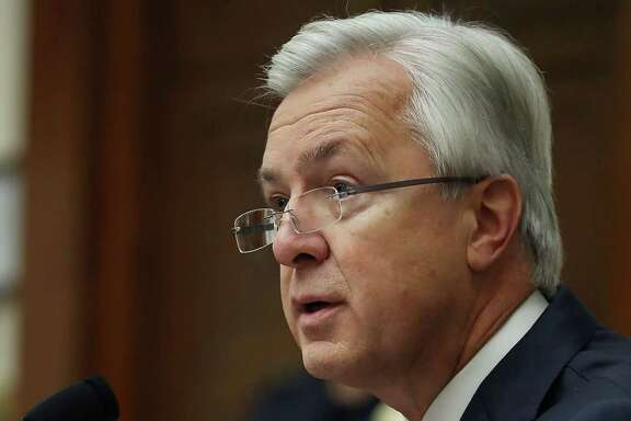 FILE - OCTOBER 12, 2016: John Stumpf will step down as Wells Fargo chief excecutive, effective immediately, amid the banks sales tactics scandal, according to published reports. WASHINGTON, DC - SEPTEMBER 29:  John Stumpf, Chairman and CEO of the Wells Fargo & Company, testifies before the House Financial Services Committee September 29, 2016 in Washington, DC. The committee heard testimony on the topic of 'An Examination of Wells Fargo's Unauthorized Accounts and the Regulatory Response.'  (Photo by Mark Wilson/Getty Images)
