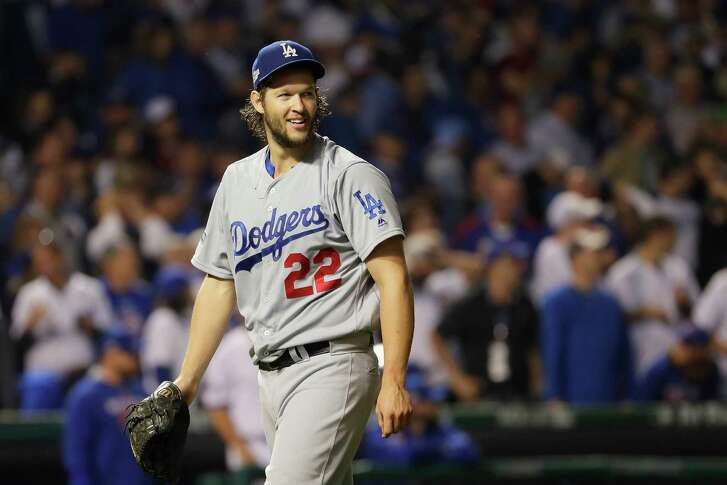 CHICAGO, IL - OCTOBER 16:  Clayton Kershaw #22 of the Los Angeles Dodgers walks off the field after pitching the seventh inning against the Chicago Cubs during game two of the National League Championship Series at Wrigley Field on October 16, 2016 in Chicago, Illinois.  (Photo by Jamie Squire/Getty Images)
