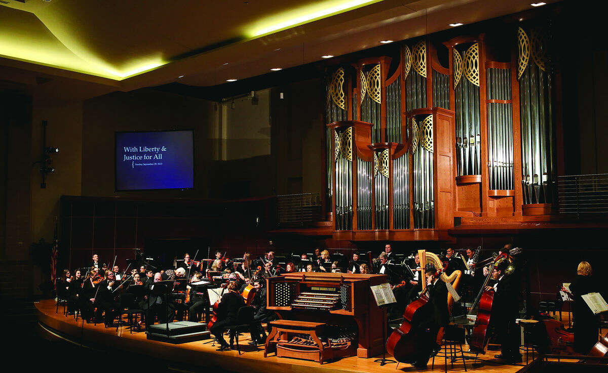 In this file photo, the Laredo Philharmonic Orchestra performs the opening of its 34th Season at TAMIU's Recital Hall.
