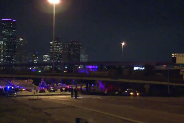 A man died late Thursday night when two car hit him as he walked on Interstate 45 in north Houston.  The incident happened about 11:50 p.m. on the outbound North Freeway near Quitman, said Sgt. James Roque of the Houston Police Department.