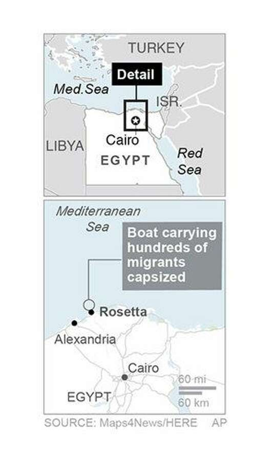 The boat was located about 7.5 miles from the Nile Delta port city of Rosetta.