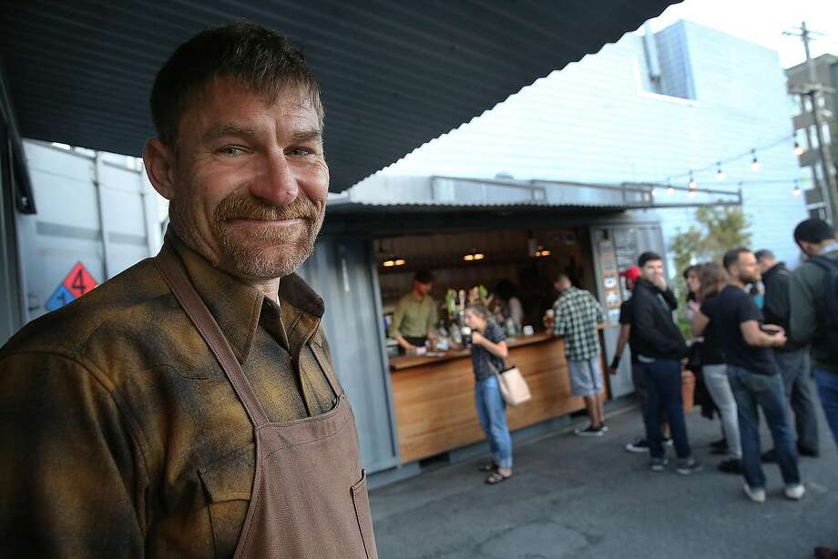Aaron Hulme is one of the owners of the Biergarten, a family operation in Hayes Valley. Photo: Liz Hafalia, The Chronicle