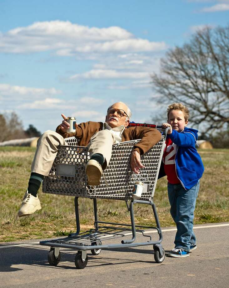 "This photo released by Paramount Pictures shows Johnny Knoxville, left, as Irving Zisman and Jackson Nicoll as Billy in ""Jackass Presents: Bad Grandpa,"" from Paramount Pictures and MTV Films. (AP Photo/Paramount Pictures, Sean Cliver)"