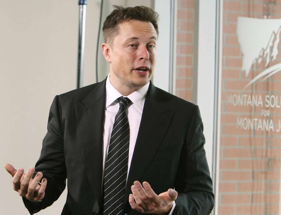 Elon Musk, founder and CEO of SpaceX and founder of Tesla Motors answers questions during a news conference at the Montana Economic Development Summit on Monday, Sept. 16, 2013, on the campus of Montana Tech of the University of Montana in Butte, Mont. (AP Photo/The Montana Standard, Walter Hinick)