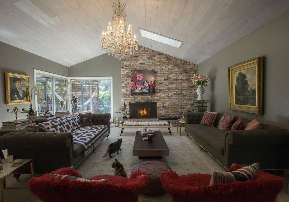 The Sanins Living Room Boasts Roomy Ralph Lauren Sofas And Lots Of Art Photo