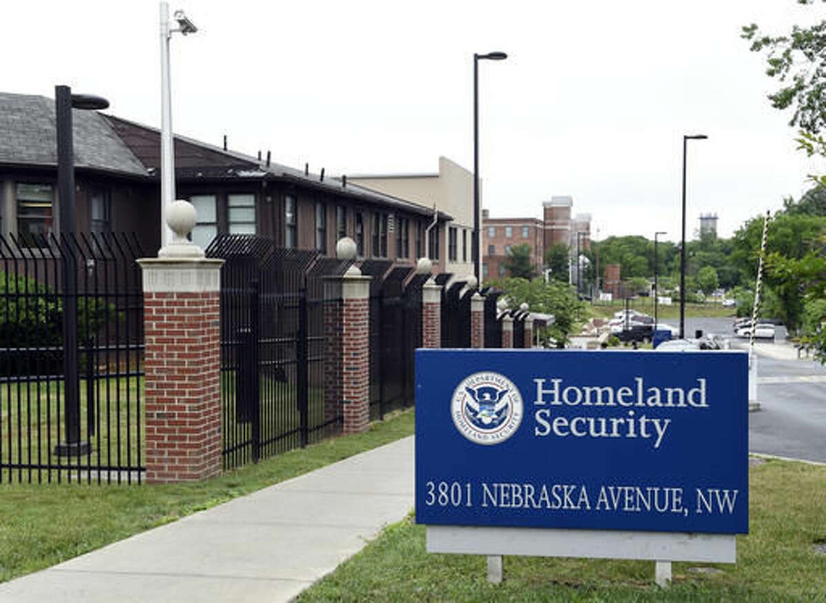 FILE - In this June 5, 2015 file photo, a view of the Homeland Security Department headquarters in Washington.