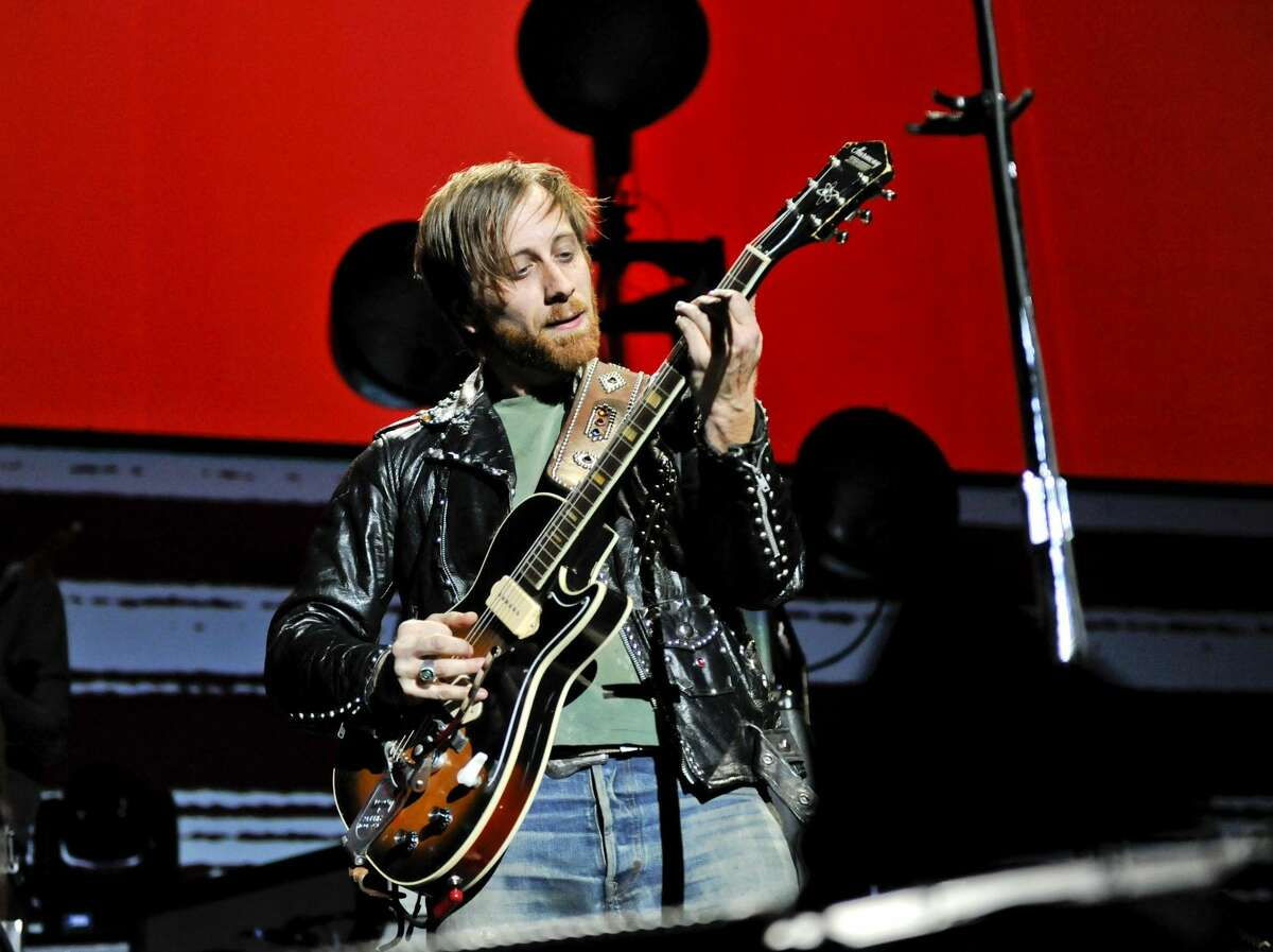 """In this March 12, 2012 file photo, guitarist/vocalist Dan Auerbach of The Black Keys performs at Madison Square Garden, in New York. The Black Keys sued Pizza Hut and Home Depot on June 22, 2012, in Los Angeles, claiming the corporations violated their copyrights by using elements of their songs """"Gold on the Ceiling"""" and """"Lonely Boy"""" in advertisements. (AP Photo/Evan Agostini, File)"""