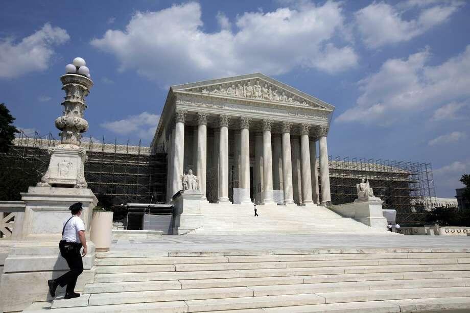 The U.S. Supreme Court is seen Wednesday in Washington. (AP Photo/Alex Brandon)
