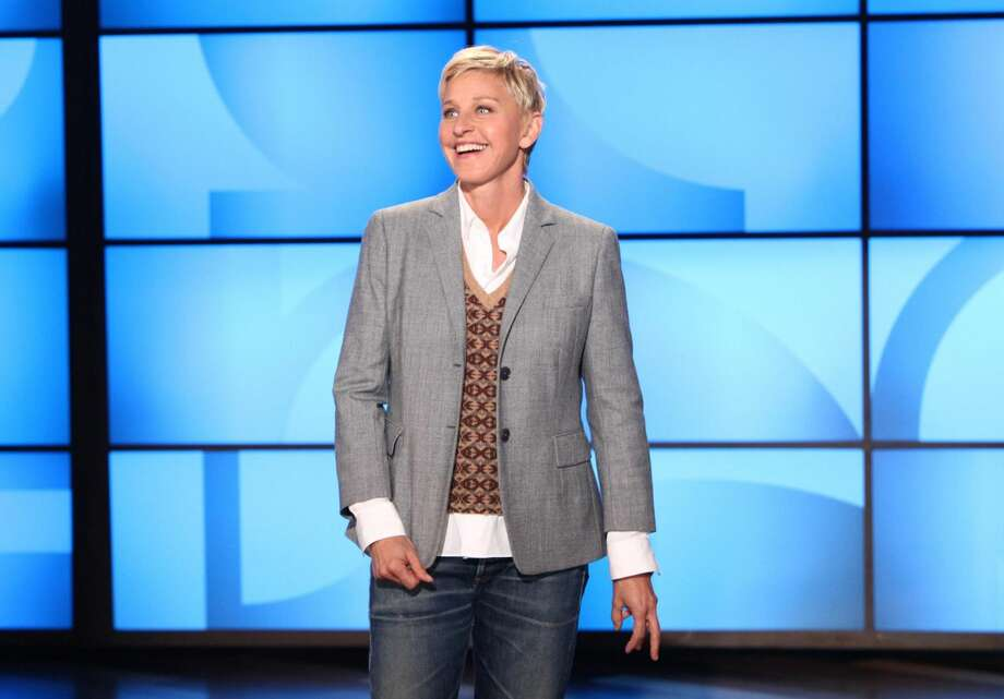 "This Sept. 26, 2011, file photo, originally provided by Warner Bros., shows Ellen DeGeneres during a taping of ""The Ellen DeGeneres Show"" in Burbank, Calif. The 2013 Hollywood Walk of Fame honorees were announced on June 22, 2012, including Jennifer Hudson, Javier Bardem, Viola Davis, James Franco, Ellen DeGeneres, among others. (AP Photo/Warner Bros., Michael Rozman, File)"