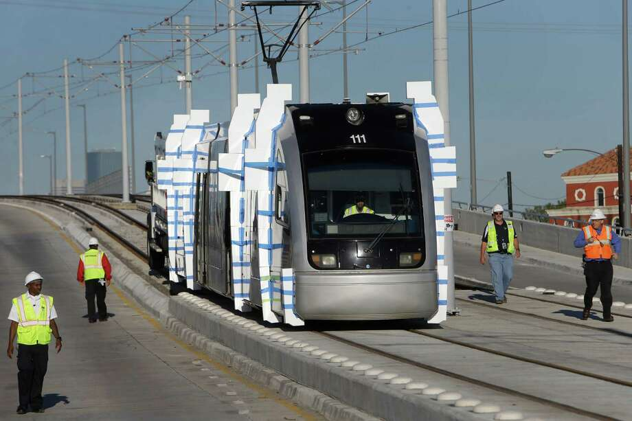 Train testing begins along unopened parts of Green Line - Houston ...