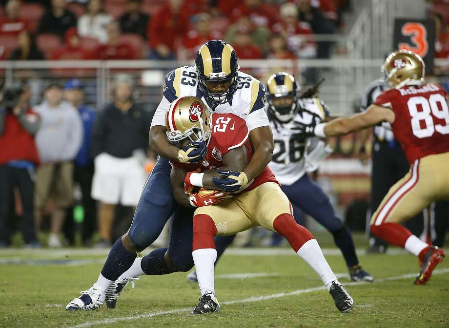 Niners running back Mike Davis is averaging 1.7 yards on 45 career carries. Photo: Tony Avelar, Associated Press