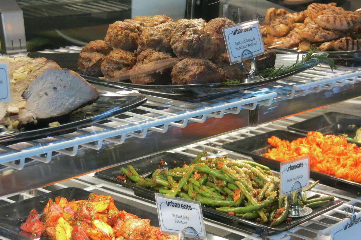 Prepared foods at Urban Eats, a retail and restaurant concept at 3414 Washington.