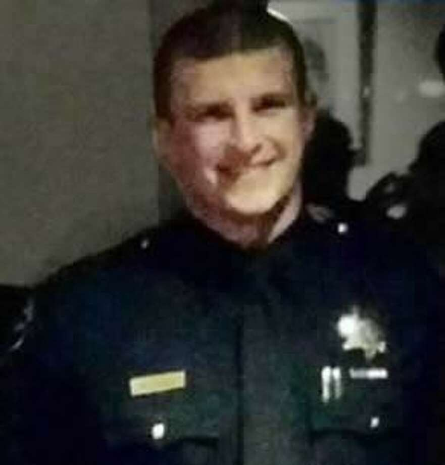 San Francisco Officer Kevin Downs was discharged from the hospital and transferred to a rehabilitation facility after he was shot in the head last week. Photo: SF POA