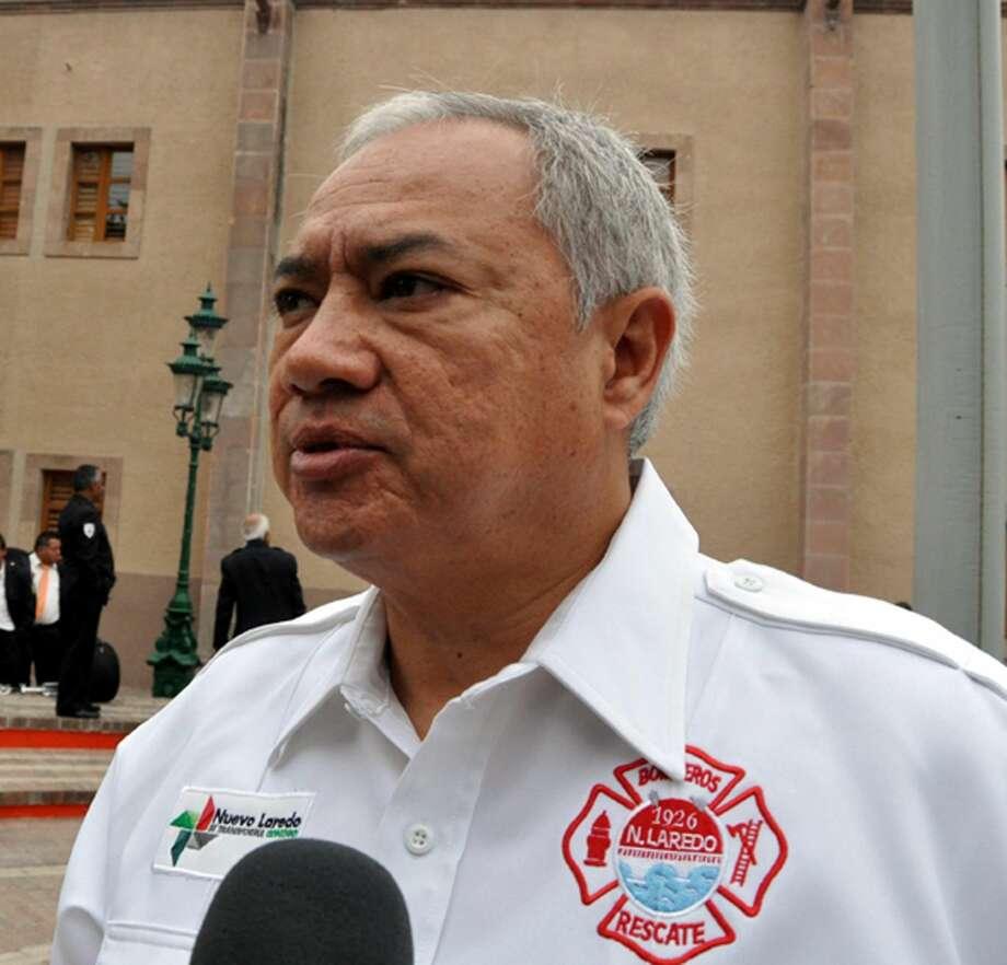 Director de Protección Civil y Bomberos de Nuevo Laredo, México, Juan Ernesto Rivera Gómez.