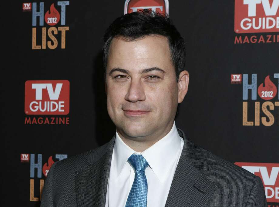 "This Nov. 12, 2012 file photo shows Jimmy Kimmel at the TV Guide Magazine's 2012 Hot List Party at Skybar at the Mondrian Hotel in West Hollywood, Calif. Kimmel went head-to-head Tuesday, Jan. 8, 2013, for the first time against CBS' ""Late Show with David Letterman"" and NBC's ""Tonight Show with Jay Leno."" According to Nielsen fast national ratings, Kimmel edged out Letterman and ran slightly behind Leno in total viewers. (Photo by Todd Williamson/Invision/AP, file)"