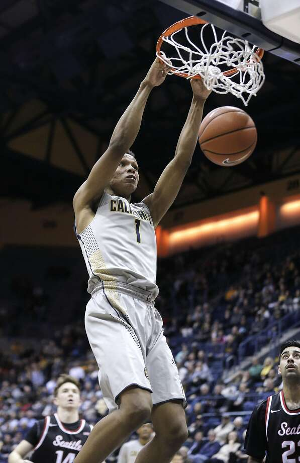 Ivan Rabb (1) dunks in the second half as the Cal Bears played the Seattle University Redhawks at Haas Pavilion in Berkeley, Calif., on Tuesday, December 1, 2015. Cal won 66-52. Photo: Carlos Avila Gonzalez, The Chronicle