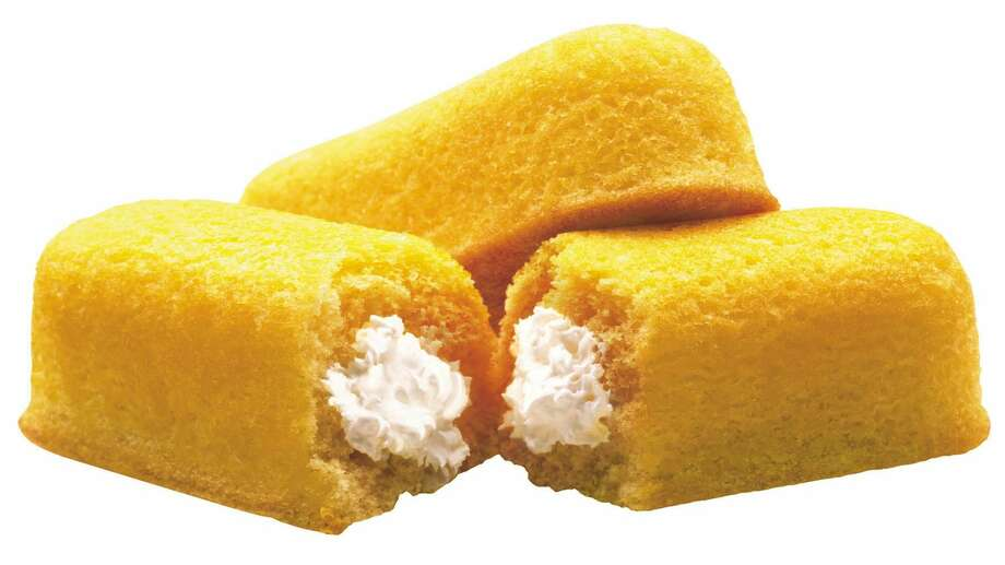 This 2003 file photo originally released by Interstate Bakeries Corporation shows Twinkies cream-filled snack cakes. Twinkies first came onto the scene in 1930 and contained real fruit until rationing during World War II led to the vanilla cream Twinkie. (AP Photo/Interstate Bakeries Corporation via PRNewsFoto)