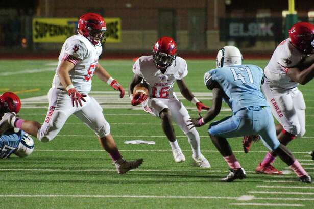 Dawson running back Lance Charles rambles for a chunk of his 245 yards rushing Thursday night against Alief Elsik.