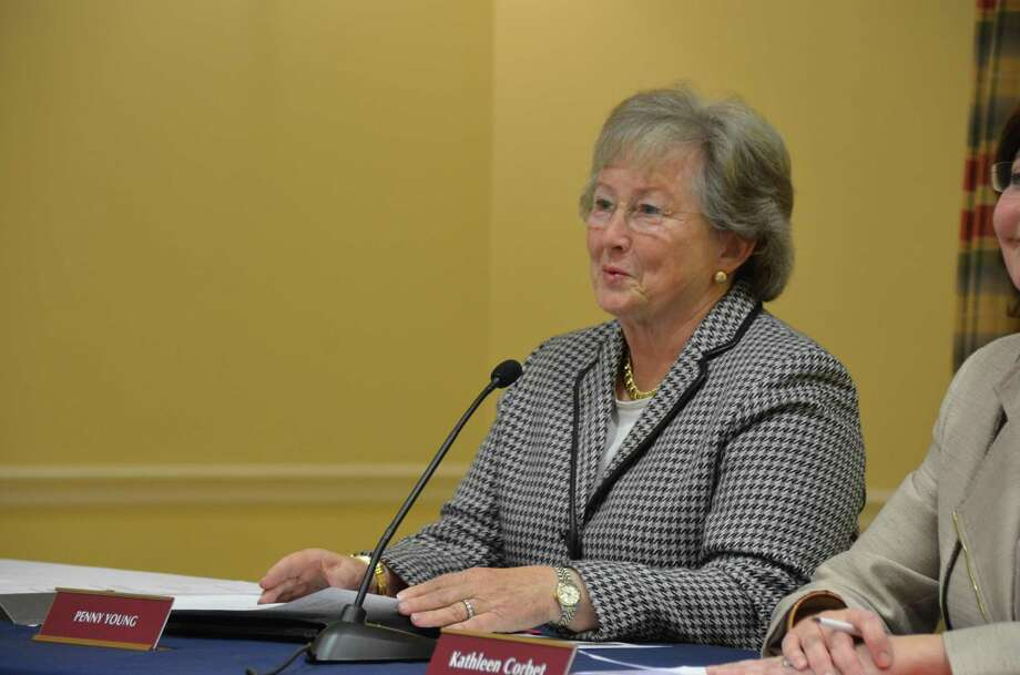 Town Council and Charter Revision Commission member Penny Young was in Hartford for an FOIA hearing on Oct. 11, 2016. Here pictured in 2013. Photo: Jeanna Petersen Shepard / Jeanna Petersen Shepard / New Canaan News Freelance