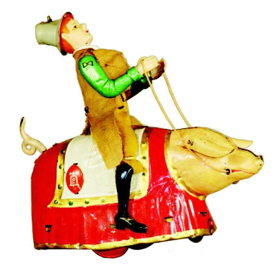 It took $19,000 to buy this Hubley toy calliope at an RSL auction in Oldwick, N.J. It is in mint condition and has the original box, which adds to the value. Circus toys are very popular. Photo: Contributed Photo / The News-Times Contributed