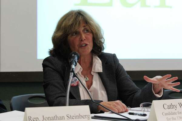 Republican Cathy Walsh and Democrat Jonathan Steinberg, candidates for the 136th House District in Westport, squared off on issues facing the environment at a fitting venue Wednesday night—Earthplace in Westport, CT.