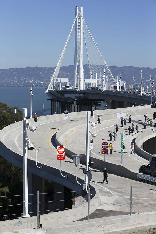 The new exit to Treasure Island, on the Bay Bridge Friday, Oct. 21, 2016 in San Francisco, Calif. Photo: Santiago Mejia, The Chronicle