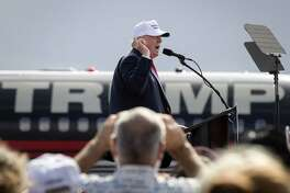 Donald Trump speaks at a campaign rally in Lakeland, Fla. His recent claims of a stolen election are not entirely new, but he has been pressing the theme with a fresh intensity, citing everything from the potential for Election Day fraud to media bias favoring Hillary Clinton.