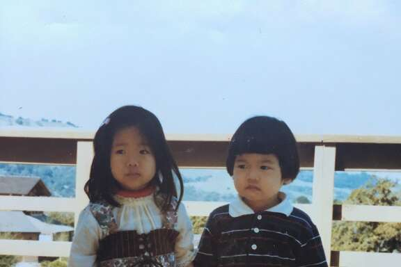 Vanessa Hua and her brother.