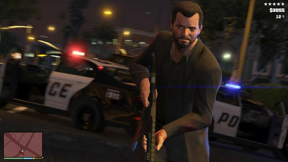 "This publicity photo released by Rockstar Games shows a screen shot from the video game, ""Grand Theft Auto V."" (AP Photo/Rockstar Games)"
