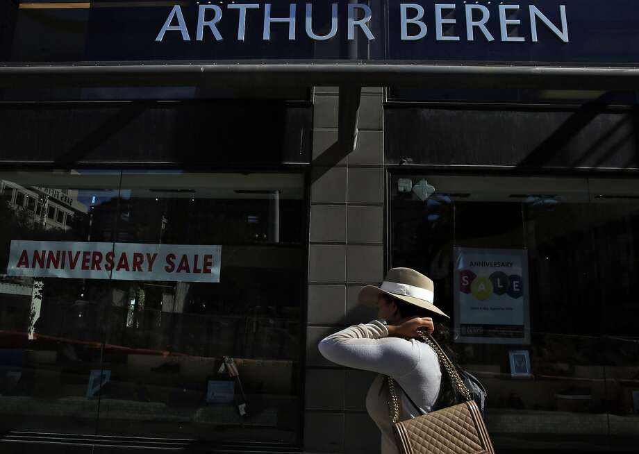 Arthur Beren Shoes is succumbing to the economics of declining sales and relentlessly skyrocketing Union Square rents. Photo: Leah Millis, The Chronicle