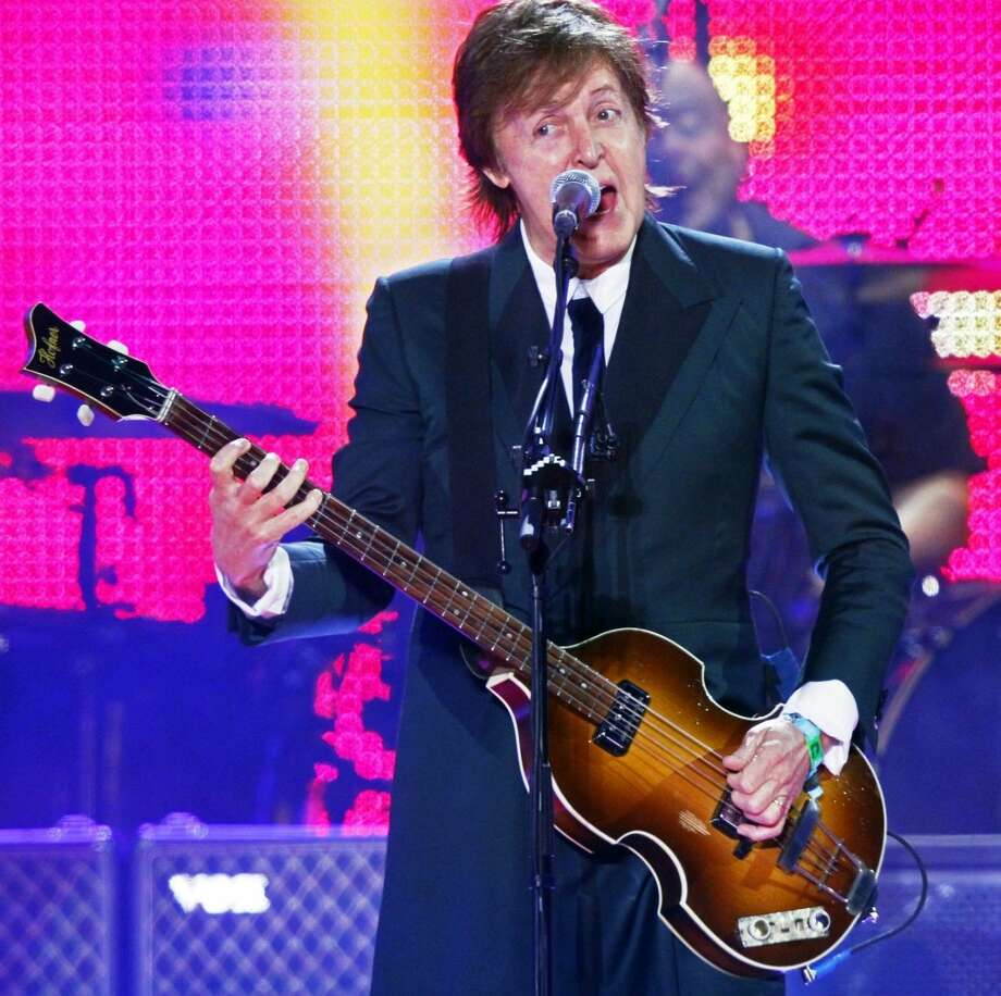 Paul McCartney performs on Day 2 of the 2013 Bonnaroo Music and Arts Festival on Friday, in Manchester, Tenn. (Photo by Wade Payne/Invision/AP)