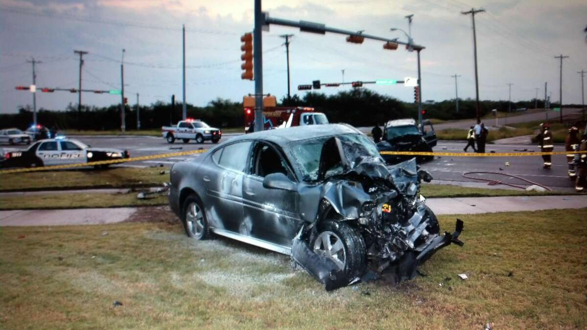 A two-vehicle collision Saturday at Loop 20 and Clark Boulevard left one man dead and two injured. (COURTESY PHOTO)