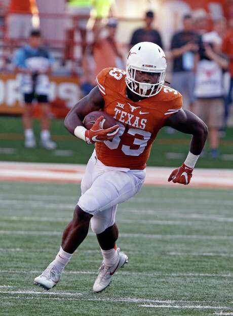 Texas' D'Onta Foreman, the nation's second-leading rusher, will try to keep the Longhorns going in the right direction against Kansas State. Photo: Michael Thomas, FRE / FR65778 AP