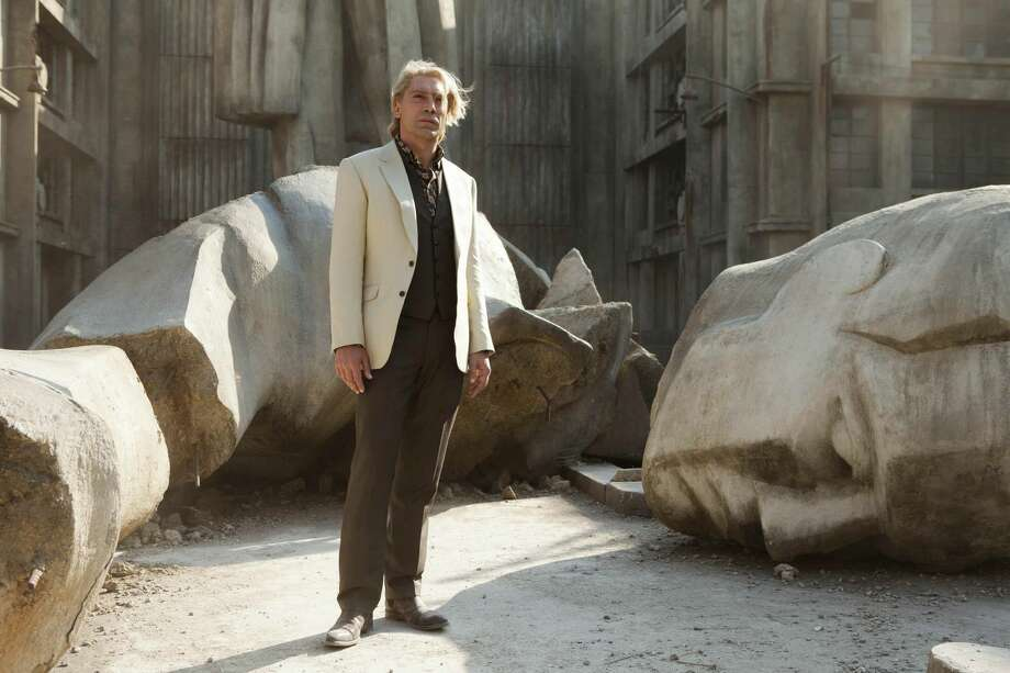 "This film image released by Sony Pictures shows Javier Bardem in a scene from the film ""Skyfall."" Bardem portrays, Raoul Silva, one of the finest arch-enemies in the 50-year history of Bond films. (AP Photo/Sony Pictures, Francois Duhamel)"