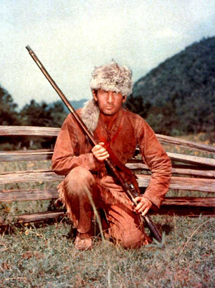 "In this undated image released by Disney, Fess Parker is shown Davy Crockett in Disney's, ""Davy Crockett."" Family spokeswoman Sao Anash says Parker died Thursday, March 18, 2010, of natural causes at his Santa Ynez home near the Fess Parker Winery. He was 85."