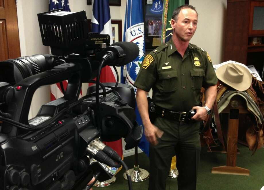 Robert L. Harris, South Texas U.S. Customs and Border Protection commander, updates media Thursday afternoon about a confrontation between agents and a suspect in the early morning hours Thursday. (Danny Zaragoza/Laredo Morning Times)