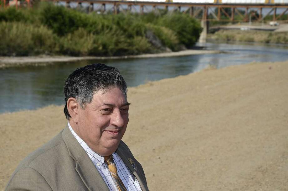 Laredo Utilities Department Director Tomas Rodriguez spoke about water conservation at a press conference called by the Environment Texas Research and Policy Center along the banks of the Rio Grande on Tuesday morning. The presentation was followed by Rodriguez's announcement that his office started enforcing Stage 3 watering restrictions from March 19 through September 30. (Photo by Cuate Santos/Laredo Morning Times) Read more