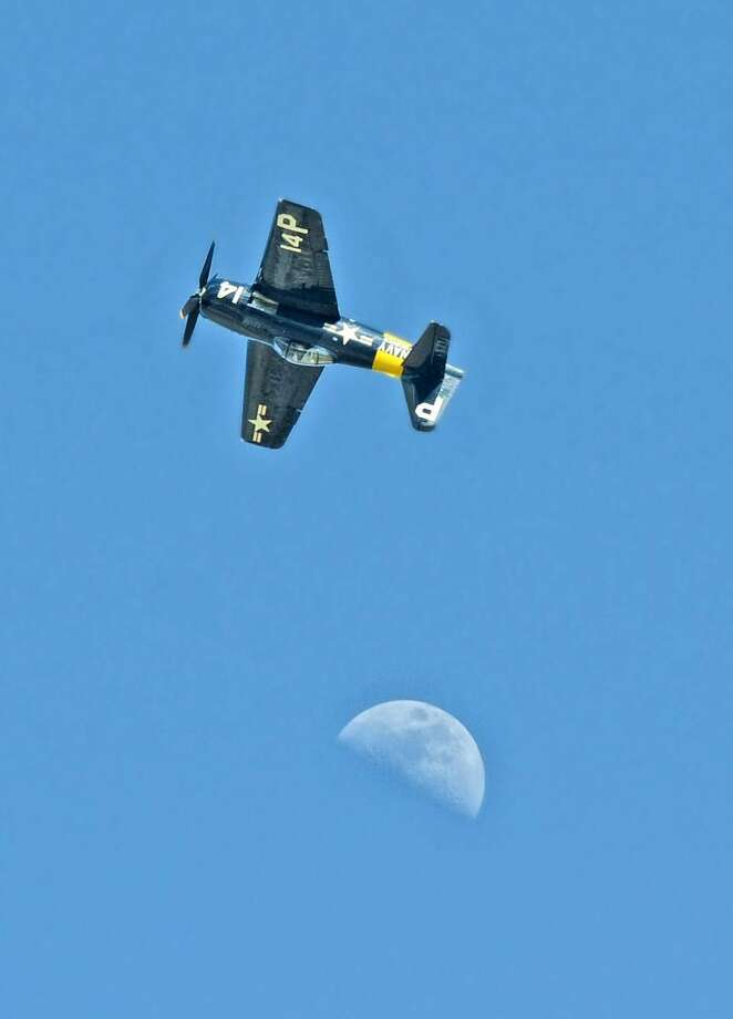 A World War II-era fighter airplane performs at the WBCA Stars and Stripes Airshow Spectacular on Sunday afternoon at the old Laredo International Airport. WBCA officials said more than 30,000 spectators attended the annual event. Photo by Ulysses S. Romero