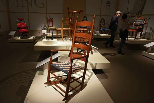 """""""The Art of Seating"""" exhibit at the Albany Institute of History & Art on Friday, Oct. 21, 2016 in Albany, N.Y.  (Lori Van Buren / Times Union)"""