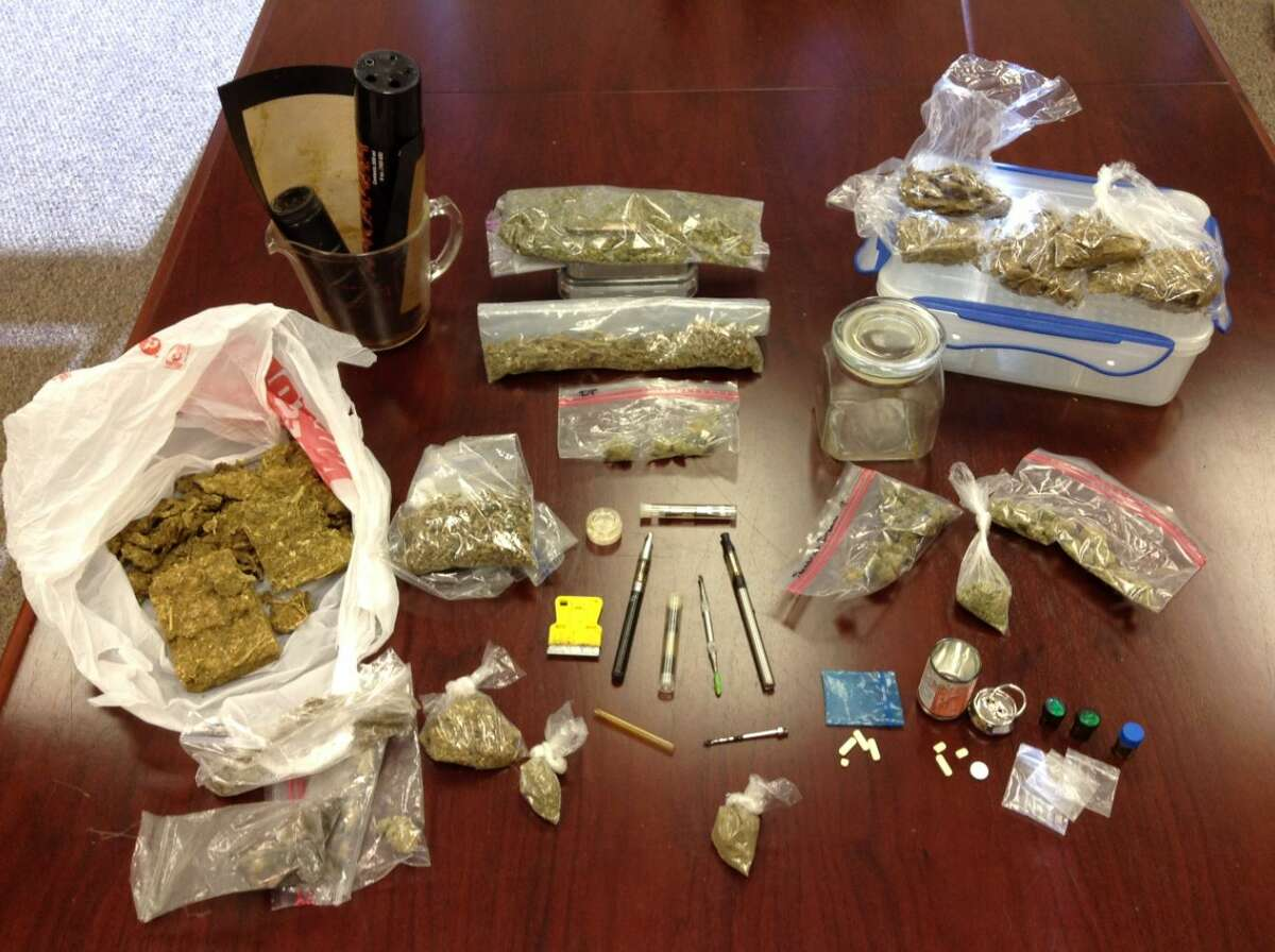 During an October 2016 raid in Fort Bend County, police found methamphetamine, cocaine, Xanax and other contraband drugs along with material used to make and distribute narcotics. (Fort Bend County Sheriff's Office)
