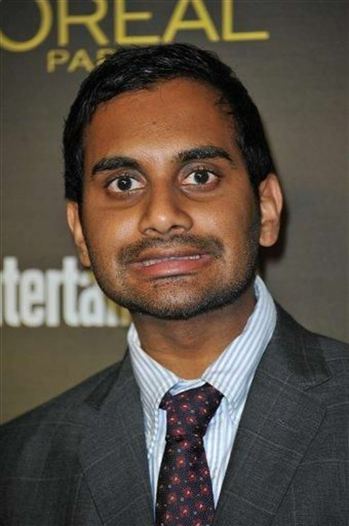 Aziz Ansari attends the Entertainment Weekly Pre Emmy Party at Fig & Olive on Friday, Sept. 21, 2012, in Los Angeles. (Photo by Richard Shotwell/Invision/AP)