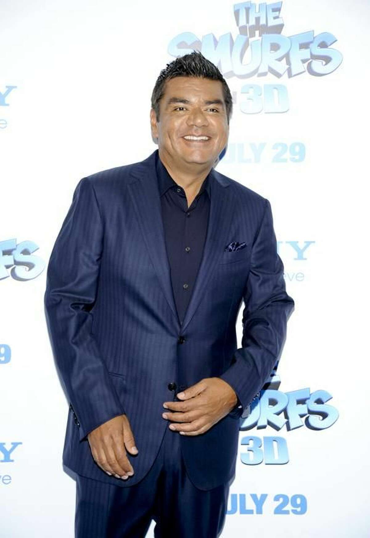 Actor George Lopez attends the premiere of