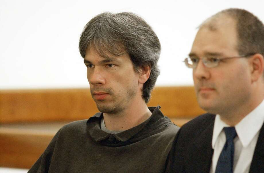In this Nov. 2000 photo, Dana Martin appears in Vermont District Court in Barre, Vt. Court documents in a New Mexico district court say Dana Martin told investigators he persuaded a man he met in prison and the man's nephew to kill Justin Bieber, Bieber's bodyguard and two others not connected to the pop star. Martin told investigators that Mark Staake and Tanner Ruane headed east, planning to be near a Bieber concert scheduled in New York City. They missed a turn and crossed into Canada from Vermont. Staake was arrested on an outstanding warrant. Ruane was arrested later. The two men face multiple charges stemming for the alleged plot.(AP Photo/Times Argus, Jeb Wallace-Brodeur)