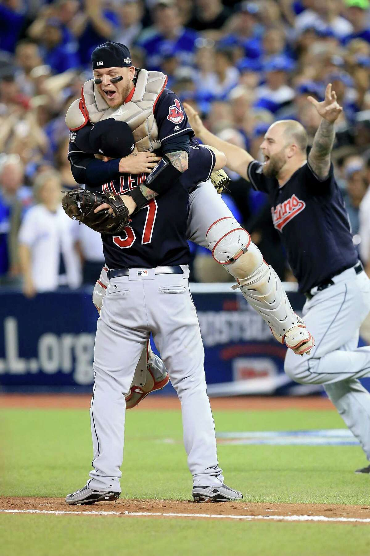 The Indians seem determined not to let LeBron James and the Cavs hog the glory as they cruised into the World Series by beating the Jays in five games.