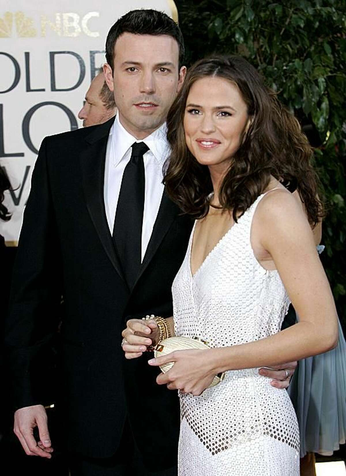 In this Jan. 15, 2007, photo, Ben Affleck, left, and Jennifer Garner arrive for the 64th Annual Golden Globe Awards in Beverly Hills, Calif. (File photo by Mark J. Terrill