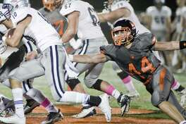Staples High School football during a game against Ridgefield High School, played at Ridgefield. Friday, Oct. 21, 2016