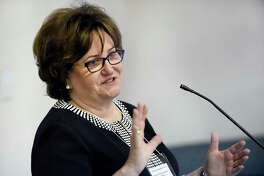 MaryEllen Elia, commissioner of NYS Dept. of Education, speaks during New York State Community Schools Network Convening on Tuesday, Aug. 2, 2016, at UAlbany East Campus in Rensselaer, N.Y.  (Cindy Schultz / Times Union archive)